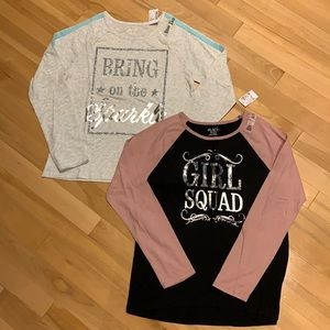 2 Girls Childrens Place long sleeve shirts-size 16